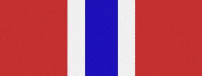 Computer-Nationalband Norwegen - Rot-Weiß-Blau-Weiß-Rot
