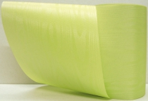 3 x Kranzband-Moiré maigrün - uni, ohne Randdekor