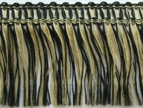 Kranzband-Klebefranse schwarz/gold