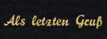 Taffet Trauerspruchband Als letzten Gruß