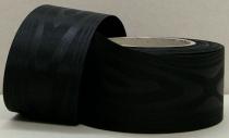 Kranzband-Moiré schwarz - uni, ohne Randdekor
