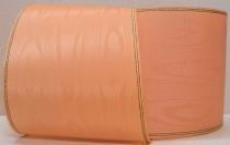 Kranzband-Moiré orange - Goldrand mit schwarzem Faden