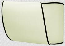 Kranzband-Moiré creme - schmaler schwarzer Rand