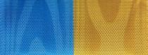 Moiré-Nationalband Schweden - Mittelblau-Gelb