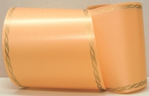 Computerband apricot - Perlkante gold