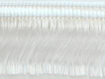Kranzband-Klebefranse weiß