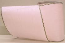 Kranzband-Moiré rosa - Goldrand mit schwarzem Faden