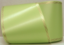 Computerband lindgrün - Perlkante gold