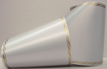 Computerband grau - Perlkante gold