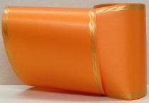 Computerband orange - Perlkante gold