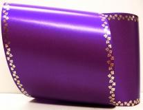 Computerband lila - Efeuranke mini gold
