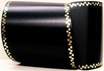 Computerband schwarz - Efeuranke mini gold