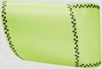 Computerband lindgrün - Efeuranke mini schwarz