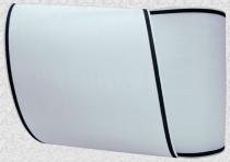 Kranzband-Moiré weiß - schmaler schwarzer Rand