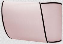Kranzband-Moiré hellrosa - schmaler schwarzer Rand