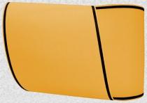 Kranzband-Moiré orange - schmaler schwarzer Rand