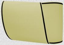 Kranzband-Moiré sand - schmaler schwarzer Rand