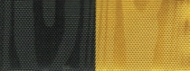 Moiré Nationalband / Vereinsband - Schwarz-Gelb
