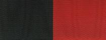 Moiré Nationalband / Vereinsband - Schwarz-Rot
