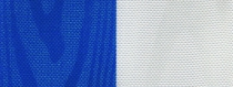 Moiré Nationalband / Vereinsband Marine-Weiß