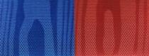 Moiré Nationalband / Vereinsband Marine-Rot