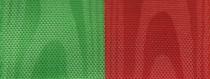 Moiré Nationalband / Vereinsband Grün-Rot
