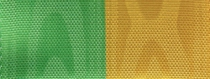 Moiré Nationalband / Vereinsband Grün-Gelb