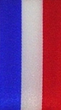Nationalband Frankreich - Blau-Weiß-Rot