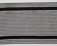 Florband Nomos - Tüll schwarz transparent