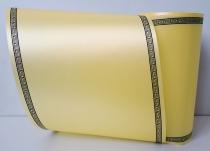 Kranzband-Satin hellgelb - Luxor Schattendruck