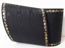 Kranzband-Moiré schwarz - Jasminranke Gold